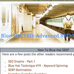 Crazy Turn of events today. After the latest SEO contest over on Wickedfire, Eli awarded the winner skohh the BlueHatSEO.com domain!!! That's pretty nuts! Skohh's been taking over the SEO scene for a while now, and he's a great fit for that throne.