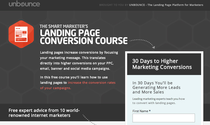 Landing Page Conversion Course - UnBounce.com