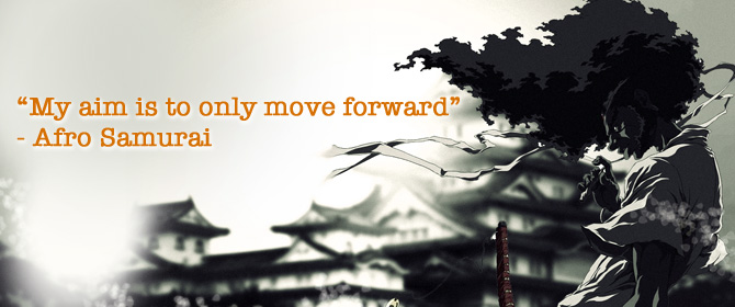 My aim is to only move forward
